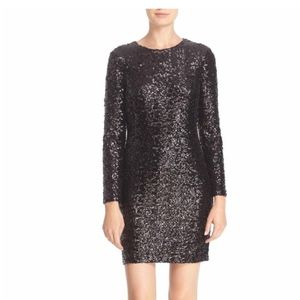 Tori Burch black sequin Cocktail Dress 32365